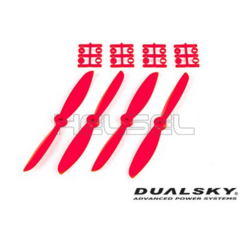 [DUALSKY] 6in Prop' for 250~300 FPV Racing(Red/2 Pair)