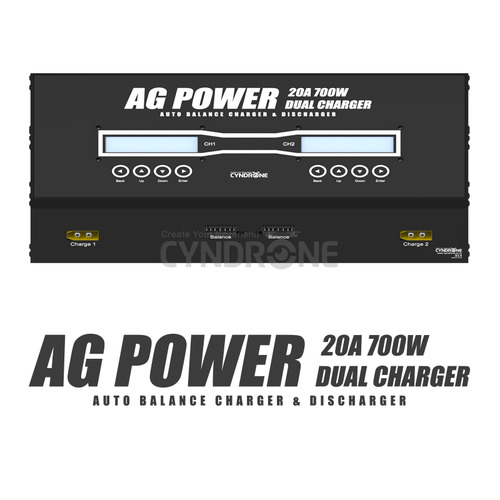 CYNDRONE] AG POWER 20A 700W DUAL CHARGER