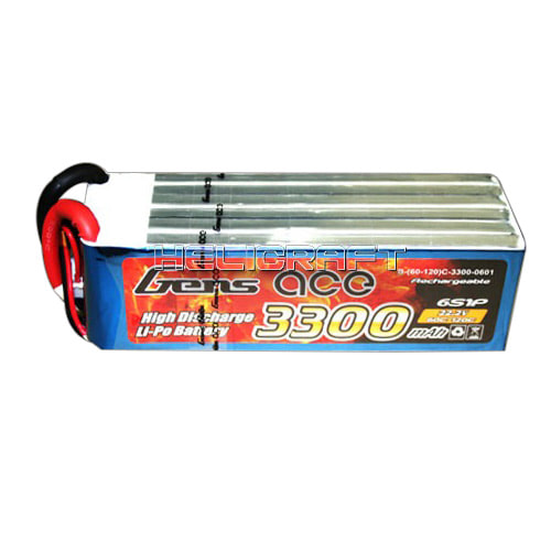 [예약판매] [Gens ace] 3300mAh 22.2V 60C-120C 6S1P Lipo Battery 고급배터리