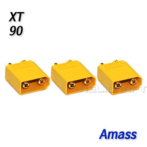 [예약판매] [Amass] XT90 Connector (Male 3pcs / Amass Original) 벌크제품
