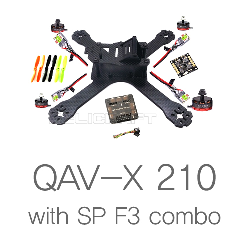 QAV-X 210 CF kit with SP F3 combo (DIY)
