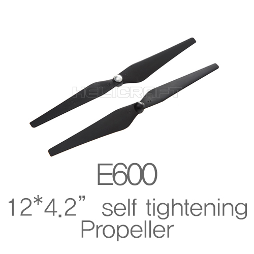 "[DJI]E600 Spare parts 12*4.2"" Self tightening black props"