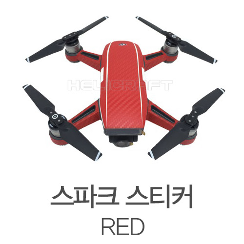 [DJI] 스파크 스티커(빨강색) | Sticker For DJI Spark (Red)