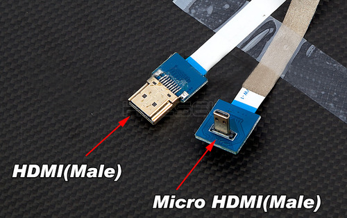 [HDCVT] HDMI to Micro Flexible AV 변환 Cable(M-M)