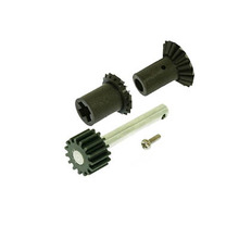 [208381]Front drive gear set and Pulley Shaft with Steel Gear (15T)